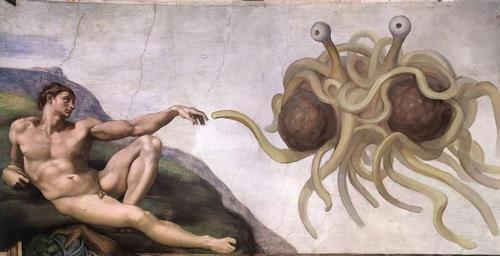 Adam und das fliegende Spaghettimonster